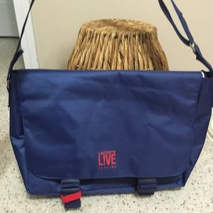 Lacoste LIVE Parfums Messenger Blue Bag! 💥